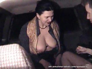 Mature woman blows 19yr guy in car Homemade