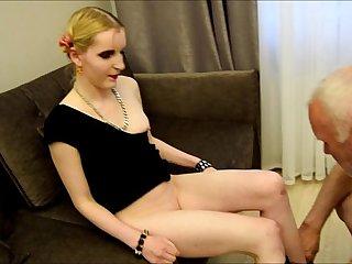 The whore Angel caught pervert Ulf Larsen wanking...