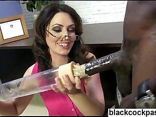 Big black dick damaging a white sluts cunt peice