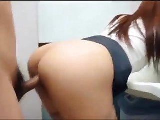 Cum shot in bathroom with Korean girlfriend More at: hanquoc18.blogspot.com
