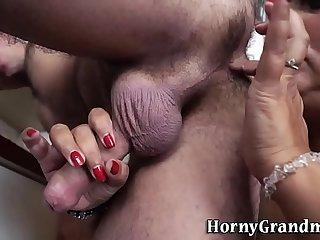 Ass rimming granny tugs