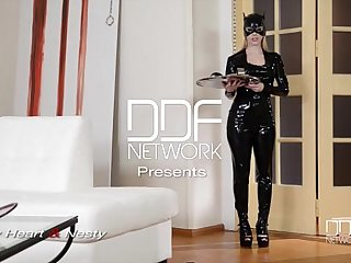Latex Femdom enjoys Anal Sex show with Russian starlet Lucy Heart